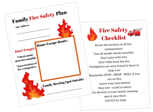 Family Fire Safety Plan – Adventures Of Single Mom